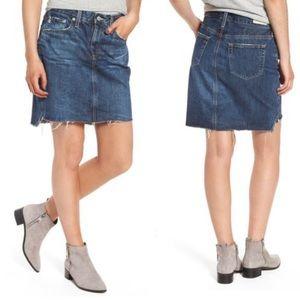 NWT AG Erin Denim Step Hem Mini Pencil Skirt (31)
